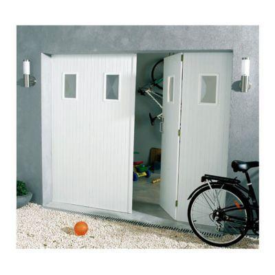 Porte De Garage 4 Vantaux Pvc Hublots Helsinki L 240 X H 200 Cm En Kit Castorama