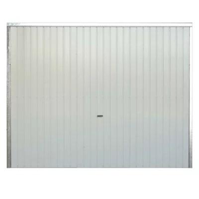 Porte De Garage Basculante Goodhome Blanc L 240 X H 200 Cm Manuelle Pre Montee Castorama