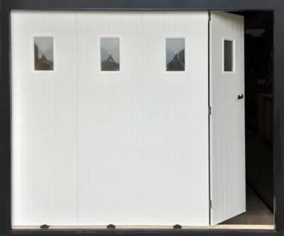 Porte De Garage Coulissante 4 Vantaux Blanc L 240 X H 200 Castorama
