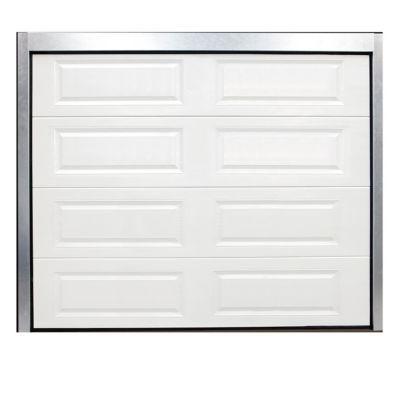 Porte De Garage Sectionnelle A Cassettes Blanche L 240 X H 200 Cm Pre Montee Castorama