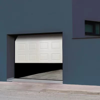 Porte De Garage Sectionnelle A Cassettes Blanche Paris L 300 X H 200 Cm Pre Montee Castorama