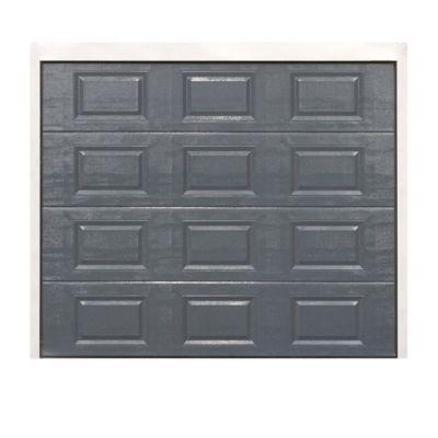Porte De Garage Sectionnelle A Cassettes Dublin Grise L 240 X H 200 Cm Pre Montee Castorama