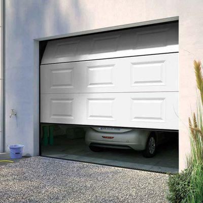 Porte De Garage Sectionnelle A Cassettes Paris Blanche L 240 X H 200 Cm Pre Montee Castorama