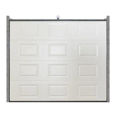 Porte De Garage Sectionnelle Goodhome Blanc A K7 L 240 X H 200 Cm Motorisee En Kit Castorama