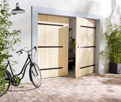 porte de garage sidonie 2 vantaux bois 240 x h 200 cm
