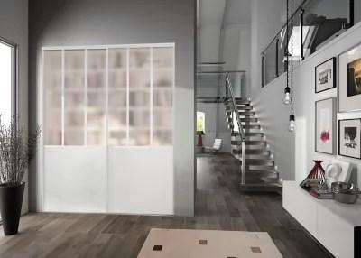 Porte De Placard Coulissante Blanche Form Valla Atelier 90 8 X 247 5 Cm Castorama