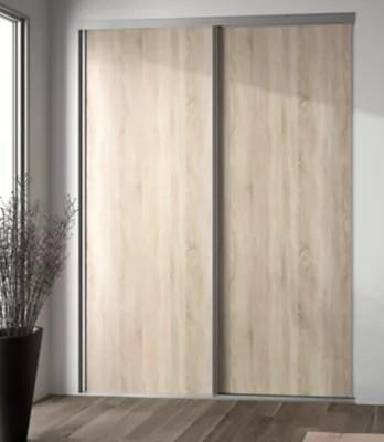 porte de placard coulissante decor chene clair form valla 92 2 x 245 6 cm