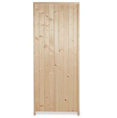 porte de service bois 90 x h 200 cm poussant gauche