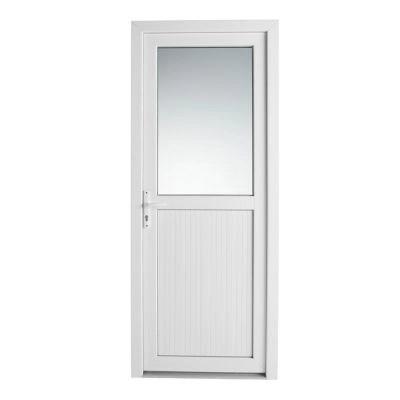 porte de service pvc 1 2 vitree servicio 90 x h 205 cm poussant droit