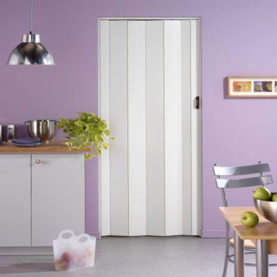 Porte Extensible Pvc Blanc Cara 205 X 84 Cm Castorama