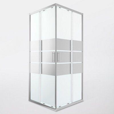 portes de douche angle droit miroir goodhome beloya 90 x 90 cm