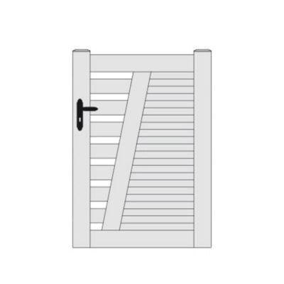 portillon pvc rhone blanc 100 x h 150 cm
