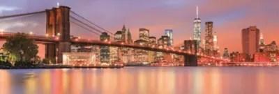 Poster Intisse Goodhome Coucher De Soleil Sur Brooklyn 124 X 368 Cm Castorama