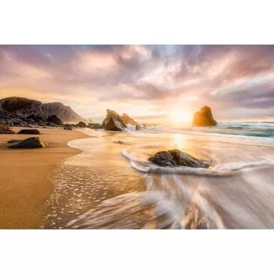 Poster Intisse Goodhome Sunset Beach 248 X 368 Cm Castorama