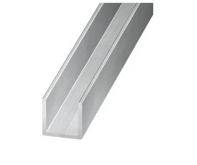 profile u aluminium brut 20 x 22 x 20 mm 2 m