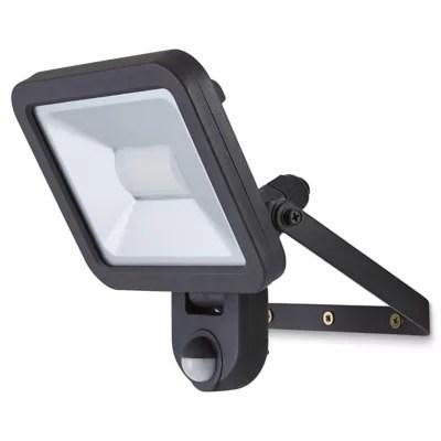 Projecteur A Detection Led Blooma Weyburn Noir 20 W Ip44 Castorama