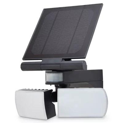 Projecteur A Detection Led Double Tete Blooma Brampton Noir 2 X 7 5w Ip44 Castorama