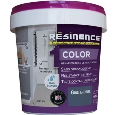 Resine Multisupports Resinence Color Ardoise Satin 0 25l Castorama