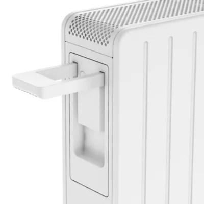 Radiateur Electrique Mobile A Inertie Seche Merton Goodhome 2500w Blanc Castorama