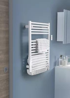 Radiateur Seche Serviettes Electrique Soufflant De Longhi Air Blanc 500 1000w Castorama