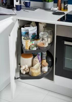 rangement coulissant d angle pour meuble de cuisine goodhome pebre 100 cm droite