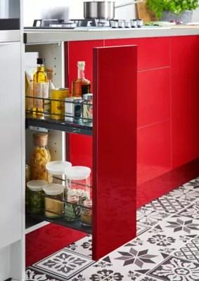 rangement coulissant pour meuble de cuisine goodhome pebre 30 cm 2 niveaux