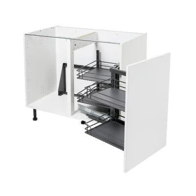rangement interieur coulissant d angle droit pour meuble de cuisine goodhome pebre 100 cm