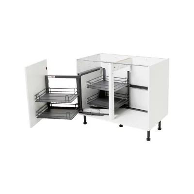 rangement interieur coulissant d angle gauche pour meuble de cuisine goodhome pebre 100 cm