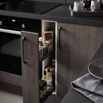 rangement epices coulissant pour meuble de cuisine goodhome pebre 15 cm 2 niveaux
