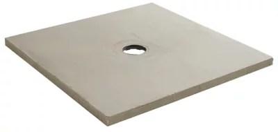 receveur a carreler carre gris q board liquid 90 x 90 cm