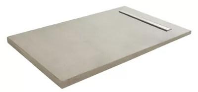 Receveur A Carreler Rectangulaire Gris Q Board Liquid 90 X 180 Cm Castorama