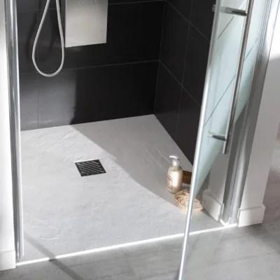 receveur de douche a poser extra plat blanc 90 x 90 cm pyro