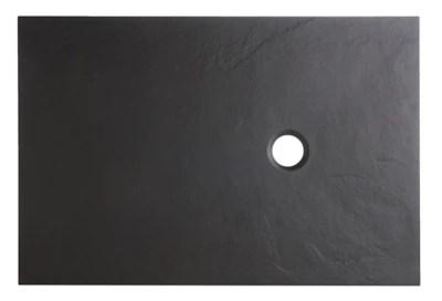 Receveur De Douche A Poser Recoupable Rectangulaire Resine Minerale Noire Cooke Lewis Piro 90 X 120 Cm Castorama