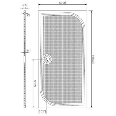 receveur extra plat limski 160 x 80 cm