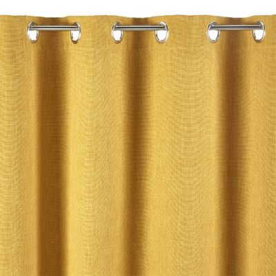 rideau barcelona occultant jaune 140x240