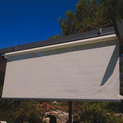 rideau brise soleil gris l 170 cm