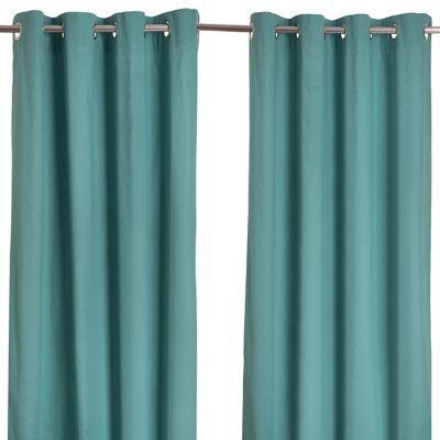 rideau colours zen bleu vert 140 x 240 cm