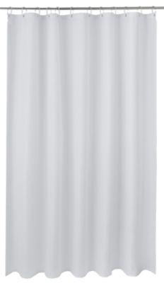 rideau de douche tissu blanc 180 x 200 cm cecina