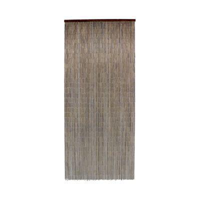 rideau de porte bambou acajou 90 x 200 cm