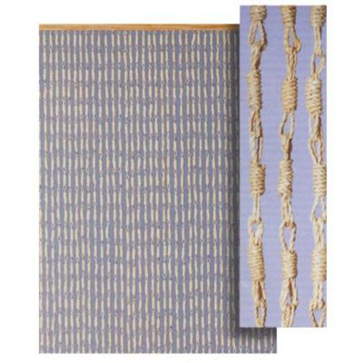 rideau de porte torsades de mais naturel 90 x 200cm