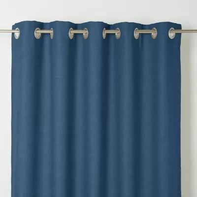 rideau goodhome novan bleu fonce 140 x 260 cm