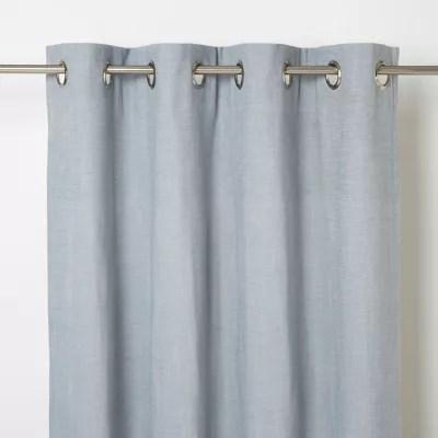 rideau goodhome tiga gris bleu 140 x 260 cm
