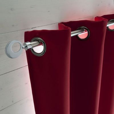 rideau occultant diggory rouge 140 x 250 cm