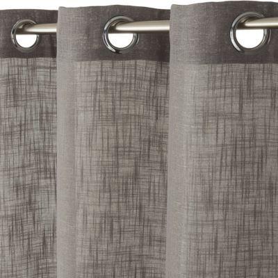 rideau paillette gris 140 x 240 cm