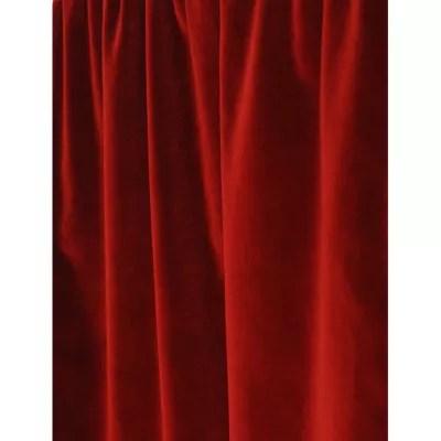 rideau theleme 140x250 cm coloris rouge