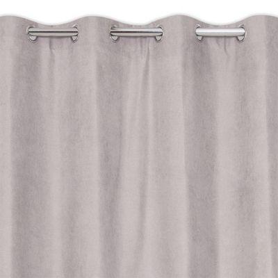 rideau velours occultant thermique gris 135 x 240 cm