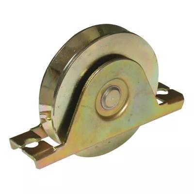 roue gorge v support a encastrer o90 mm