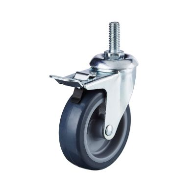 roulette pivotante a tige filetee o75 mm charge max 60 kg