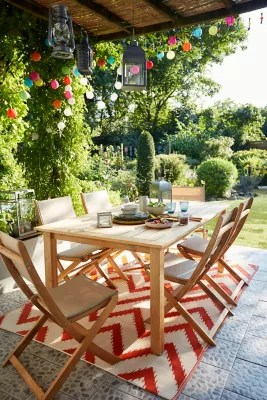 salon de jardin molara table 6 chaises