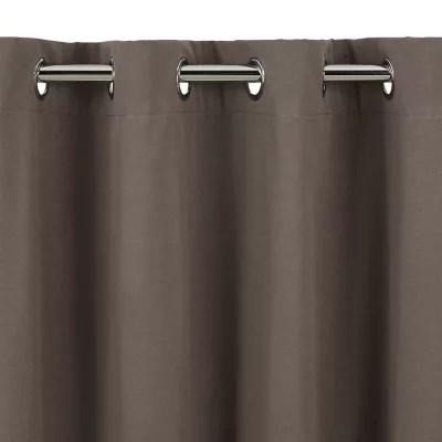 set rideau gris 200x200 cm tringle 176 cm
